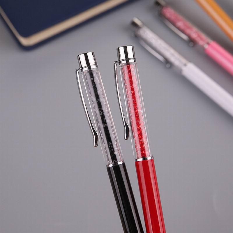 Classic Crystal Dust Shiny Stunning Gems Novelty Ballpoint School Office Pens