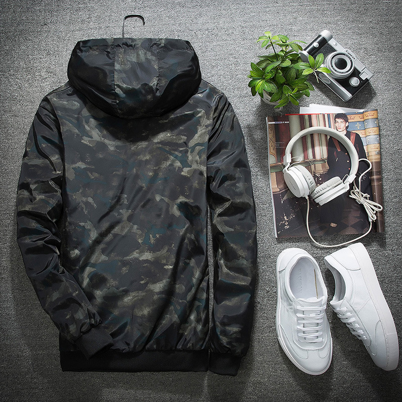 Spring Autumn Mens Casual Camouflage Hoodie Jacket Clothes Windbreaker Coats
