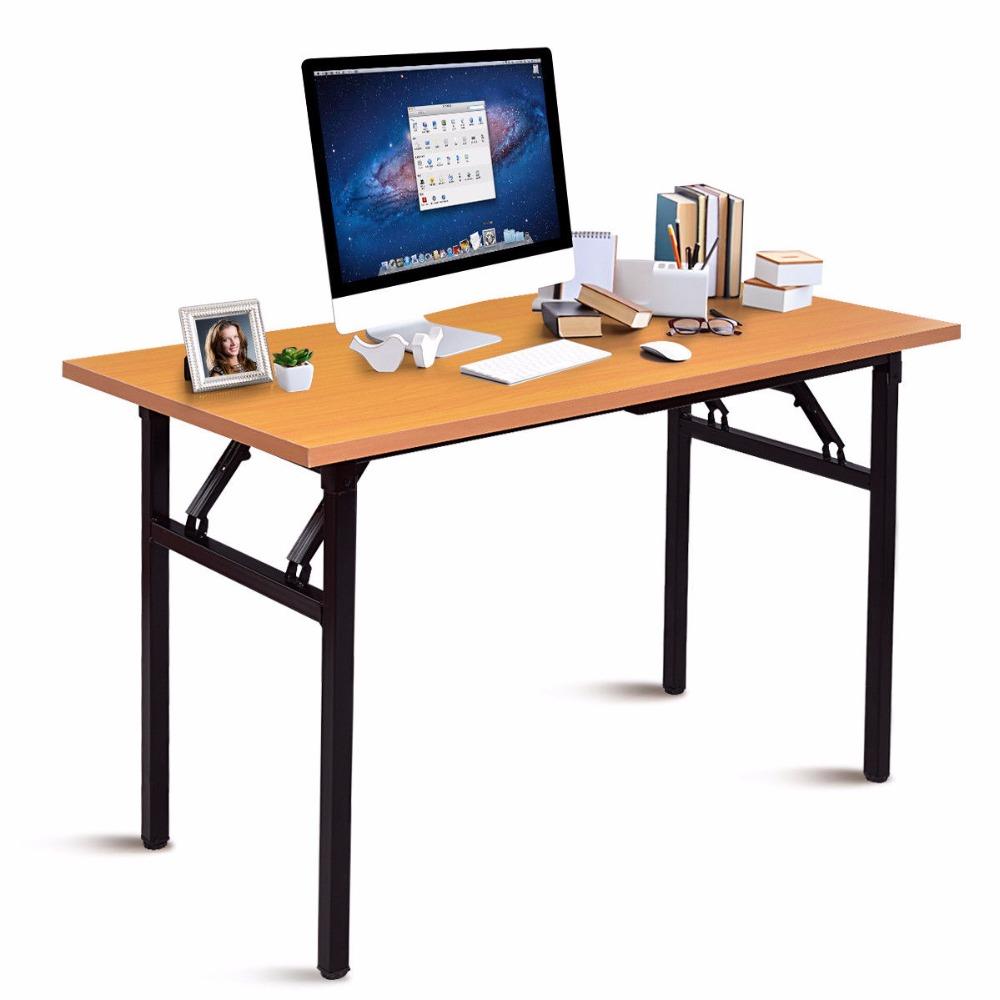 Giantex Portable Folding Computer Desk, Portable Folding Computer Desk Laptop Table Workstation Furniture
