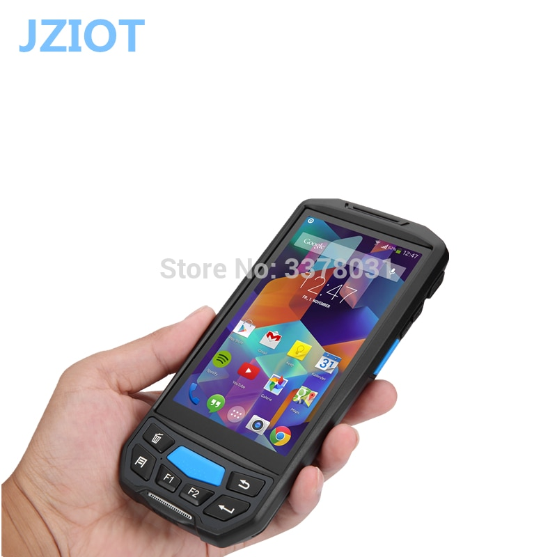 4G LTE Android7 0 rugged nfc rfid reader 2d barcode scanner all in one  handheld smartphone rugged android pda barcode-in Scanners from Computer &