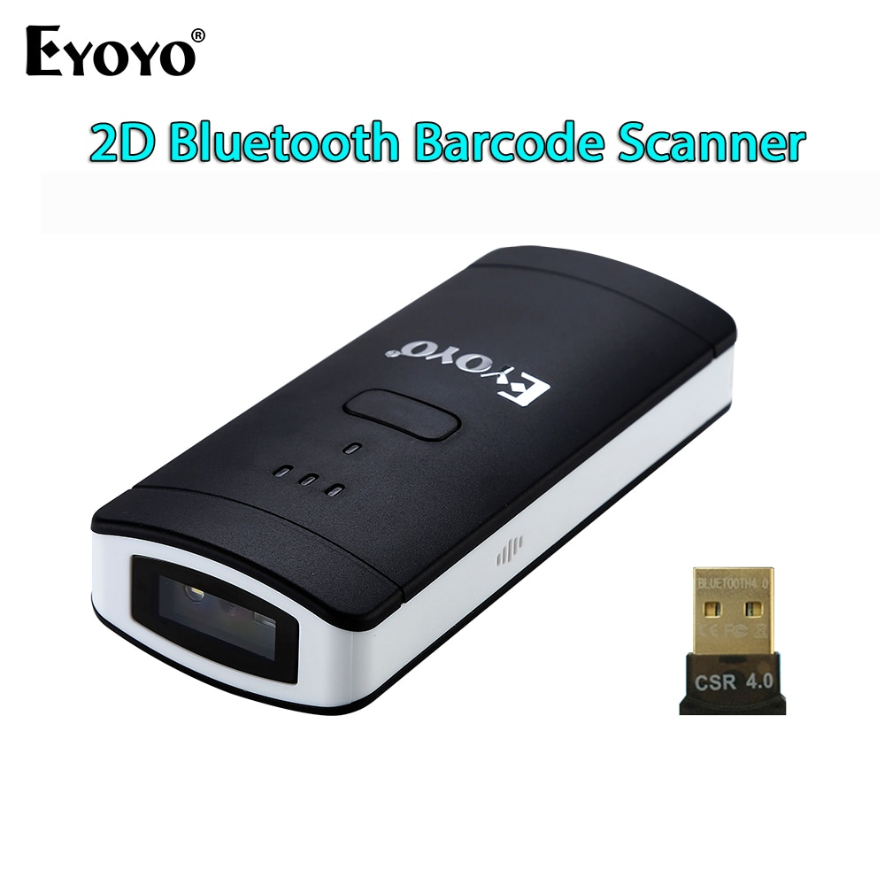EYOYO EY 002S Wireless Bluetooth 2D Barcode Scanner PDF417 DataMatrix QR  Code Reader For Andriod IOS Pocket Mini 2D Scanner -in Scanners from  Computer