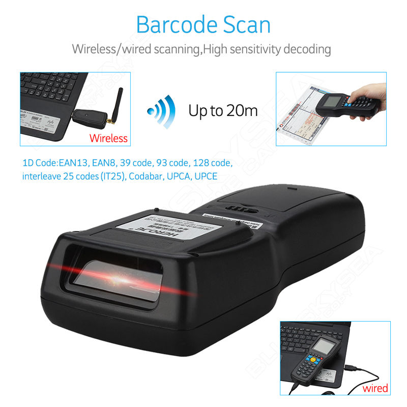 Heroje T5 Elite Vision Wireless 433MHz 1D Barcode Scanner Data Collector  Inventory Management EAN13 1D With Search Engine-in Scanners from Computer  &