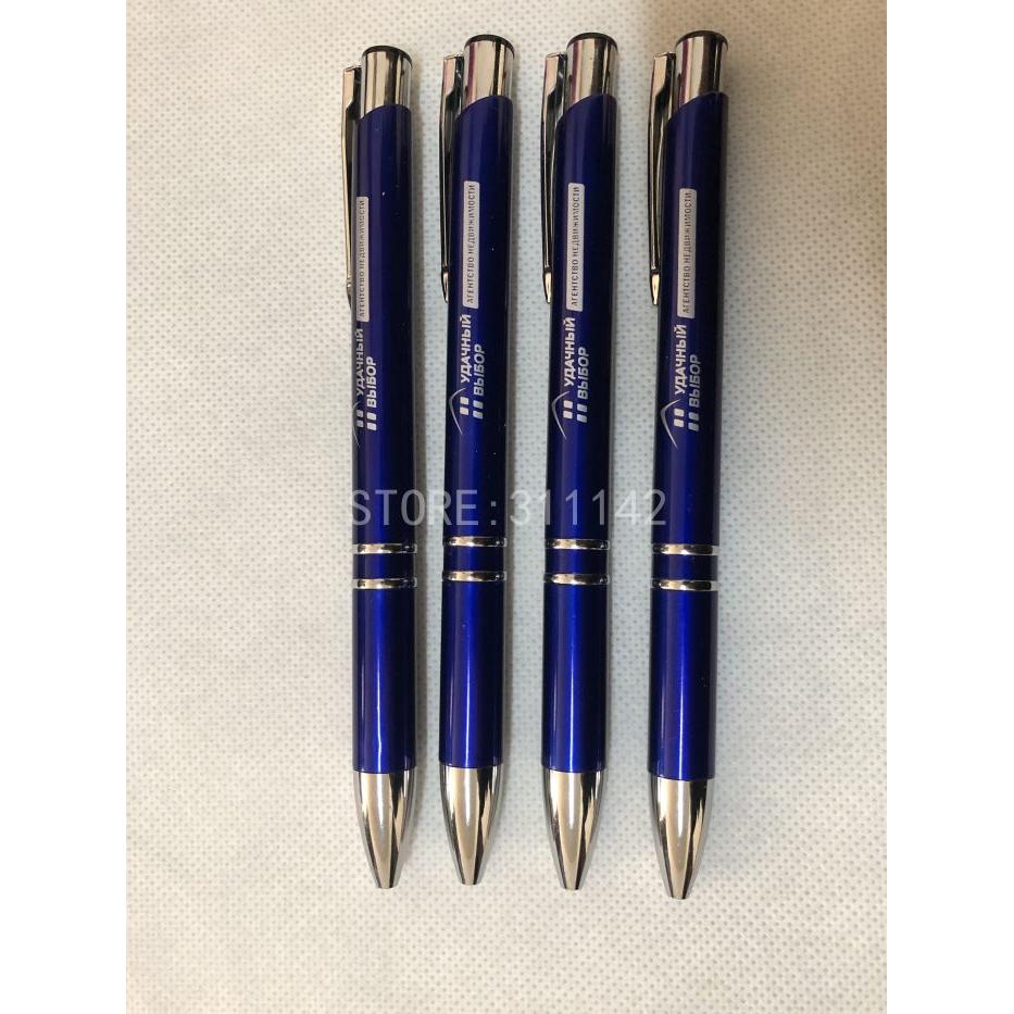 1000 custom promotion blue ball pens brand company logo advertising pens  with logo ball pen body blue ballpoint pen wholesale-in Banner Pens from